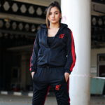 Anti Fake Black and Red Unisex 2PC Tracksuit