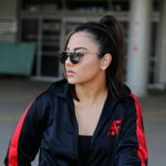 Anti Fake Black and Red tracksuit top