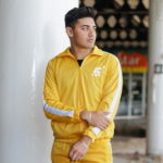 Anti fake Yellow and White Tracksuit Top
