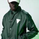 Embedded Green Cover Top (Coach jacket)