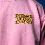 Embedded Pink Clubhouse Sweater