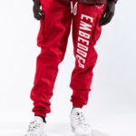Embedded Red Unisex Cargo Pants