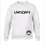 Unknown Clothing White Unisex Round Neck Sweaters