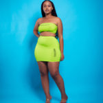Embedded Ladies Lime Tights Two Piece