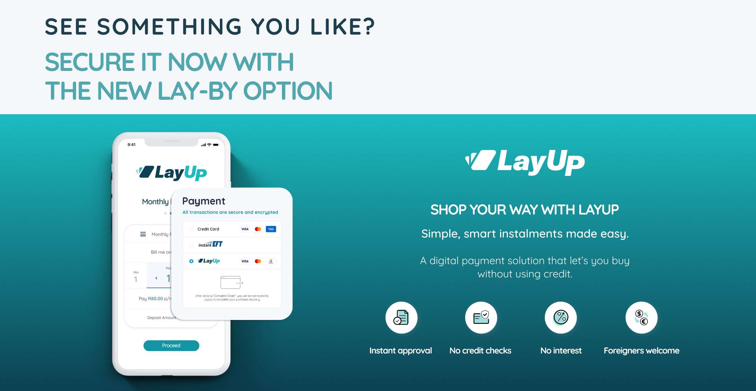 LayUp Payment Banner